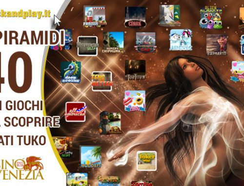 Clickandplay.it, la Sala Piramidi si rinnova con 40 nuove slot